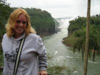 Jules Knox at the Iguazu Falls in Argentina - JulesKnox.com